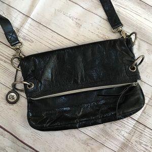 THE SAK Black Leather Convertible Crossbody Bag